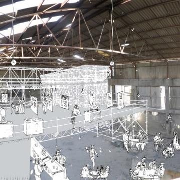 Théâtre à Aïda/ Perspective mezzanine