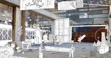 Théâtre à Aïda/ Perspective salle des décors