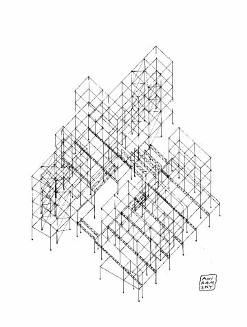 PFE Budapest/ Axonométrie structure