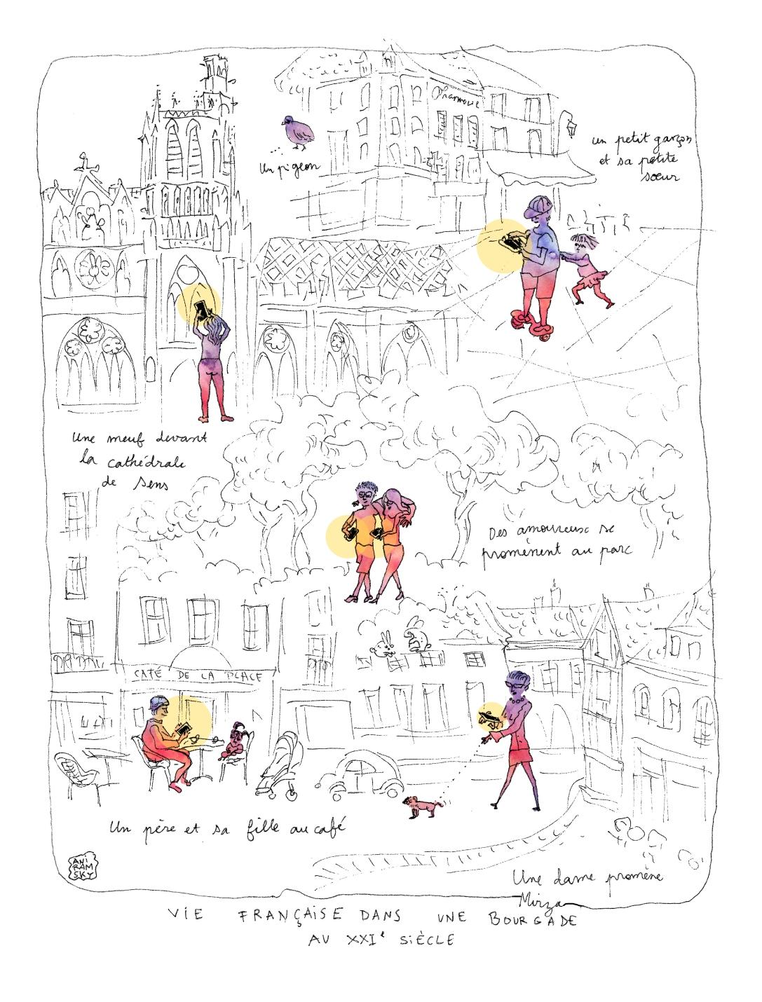 2017 Aniramsky Vie française dans une bourgade au 21e siècle