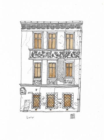 2019 Anir Amsky Façades d'Europe centrale Lviv 01